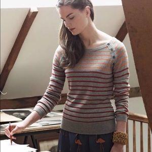 ANTHROPOLOGIE Sparrow Lightweight Striped Sweater